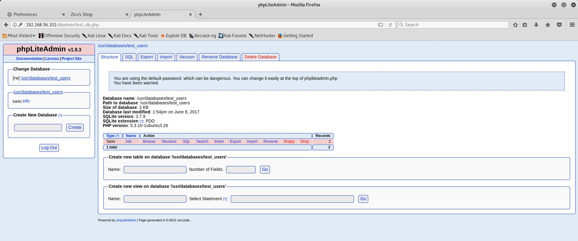 phpLiteAdmin Homepage