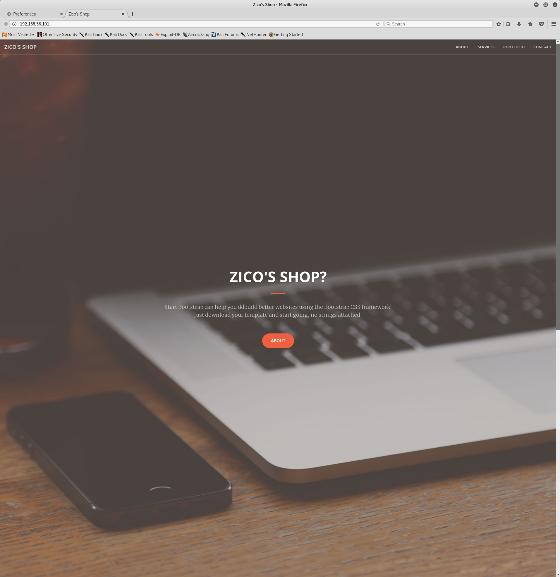 Zico2 Homepage on port 80